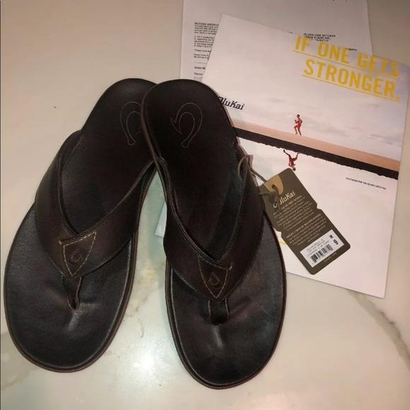 68971be87c9 Olukai Nalukai Men's size 9 flip flops NWT